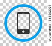 smartphone rounded icon. vector ...   Shutterstock .eps vector #566662039