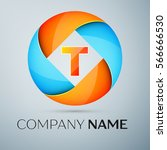 letter t logo symbol in the... | Shutterstock . vector #566666530