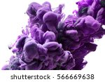 purple ink drop in water... | Shutterstock . vector #566669638
