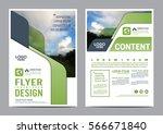greenery brochure layout design ... | Shutterstock .eps vector #566671840