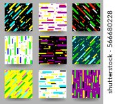 geometric pattern cards. set  ... | Shutterstock .eps vector #566680228
