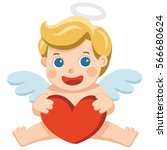 valentine's day illustration of ... | Shutterstock .eps vector #566680624