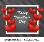 happy valentine's day card with ... | Shutterstock .eps vector #566680963