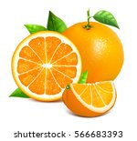 Orange Whole And Slices Of...