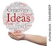 concept conceptual creative new ... | Shutterstock . vector #566684809