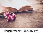 vintage novel books with... | Shutterstock . vector #566687194