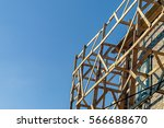 facade reconstruction with... | Shutterstock . vector #566688670
