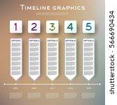 timeline infographics design... | Shutterstock .eps vector #566690434