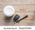 top view coffee cup holder and  ... | Shutterstock . vector #566693584