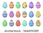 vector cartoon collection with... | Shutterstock .eps vector #566694289