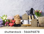home and garden concept of wood ... | Shutterstock . vector #566696878