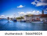 trogir waterfront | Shutterstock . vector #566698024