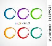 color circles set | Shutterstock .eps vector #566699284