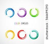 color circles set | Shutterstock .eps vector #566699293