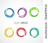 color circles set | Shutterstock .eps vector #566699416