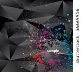 abstract background with black... | Shutterstock .eps vector #56669956