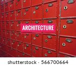 architecture words with red box ...   Shutterstock . vector #566700664