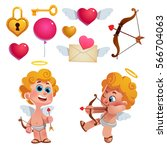 vector set of cute cupids and...