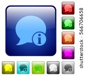 blog comment info icons in... | Shutterstock .eps vector #566706658