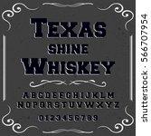 font typeface script vintage... | Shutterstock .eps vector #566707954