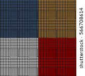 houndstooth geometric plaid...   Shutterstock .eps vector #566708614