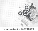 abstract technology background | Shutterstock .eps vector #566710924