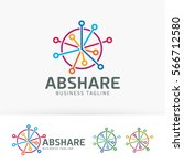 abstract share  network ... | Shutterstock .eps vector #566712580