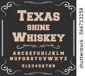 script typeface  font vintage... | Shutterstock .eps vector #566713258