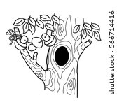 coloring page outline of... | Shutterstock .eps vector #566714416
