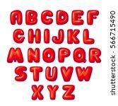 balloon lettering funny bold... | Shutterstock .eps vector #566715490