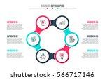 business data visualization.... | Shutterstock .eps vector #566717146