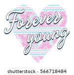 ethnic heart with slogan.... | Shutterstock .eps vector #566718484
