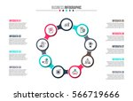 business data visualization.... | Shutterstock .eps vector #566719666