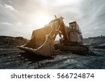 track type loader excavator... | Shutterstock . vector #566724874
