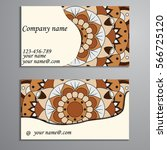 invitation  business card or... | Shutterstock .eps vector #566725120