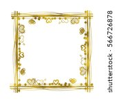 square gold frame with hearts | Shutterstock . vector #566726878