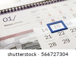 calendar page mockup  close up... | Shutterstock . vector #566727304