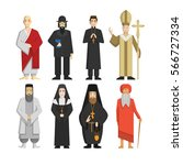 religion representatives set.... | Shutterstock . vector #566727334
