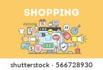 shopping concept illustration... | Shutterstock .eps vector #566728930