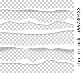 ripped paper and transparent...   Shutterstock .eps vector #566730433