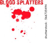 blood splatter on white... | Shutterstock .eps vector #566735494