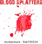 blood splatter on white... | Shutterstock .eps vector #566735524