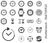 clock icon isolated. time logo  ...   Shutterstock .eps vector #566735923