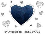 dark blue heart isolated on... | Shutterstock .eps vector #566739733