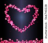 shiny red gem stones in shape...   Shutterstock .eps vector #566740228