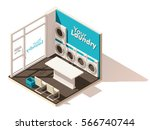 vector isometric low poly... | Shutterstock .eps vector #566740744