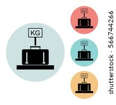 baggage weight icon isolated...