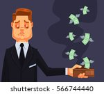 businessman character lost... | Shutterstock .eps vector #566744440