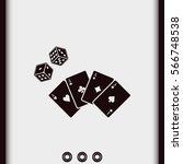 playing cards with dices icon. | Shutterstock .eps vector #566748538