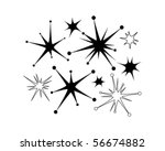 retro stars 9   clip art   Shutterstock .eps vector #56674882